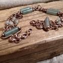 Green Crystal with Aventurine Copper Bracelet